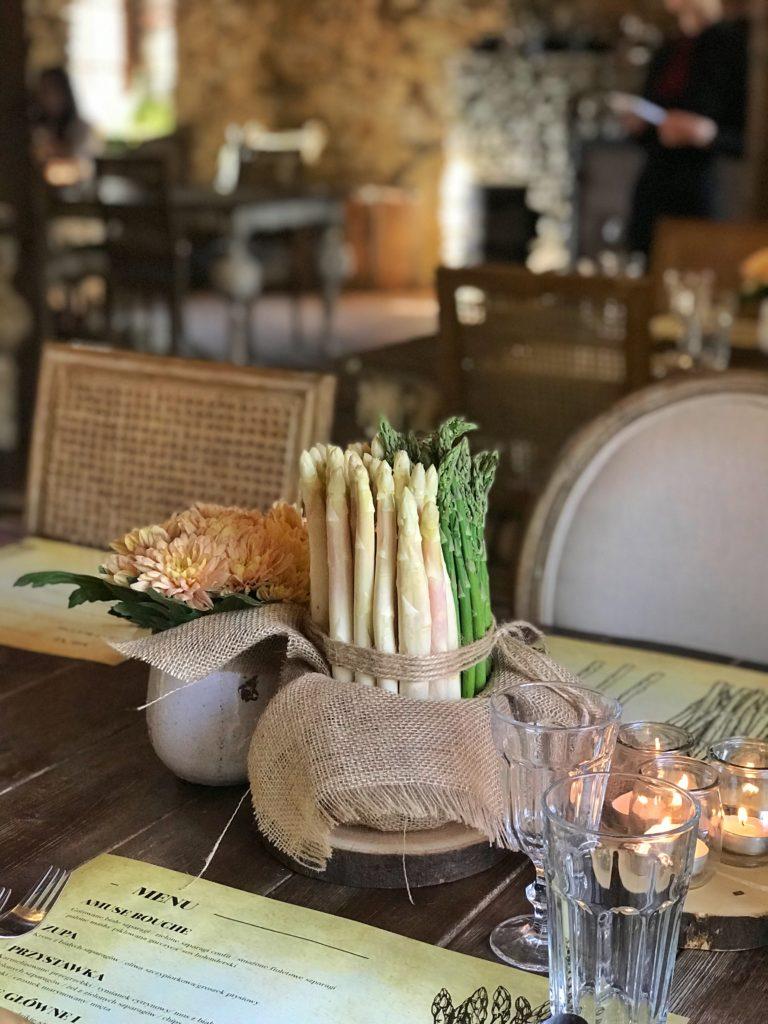 szparagi kolacja degustacyjna